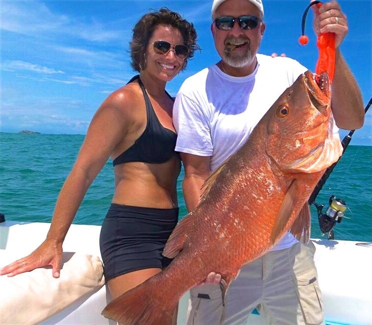 Happy Couple with their snapper in Quepos Costa Rica August 2017