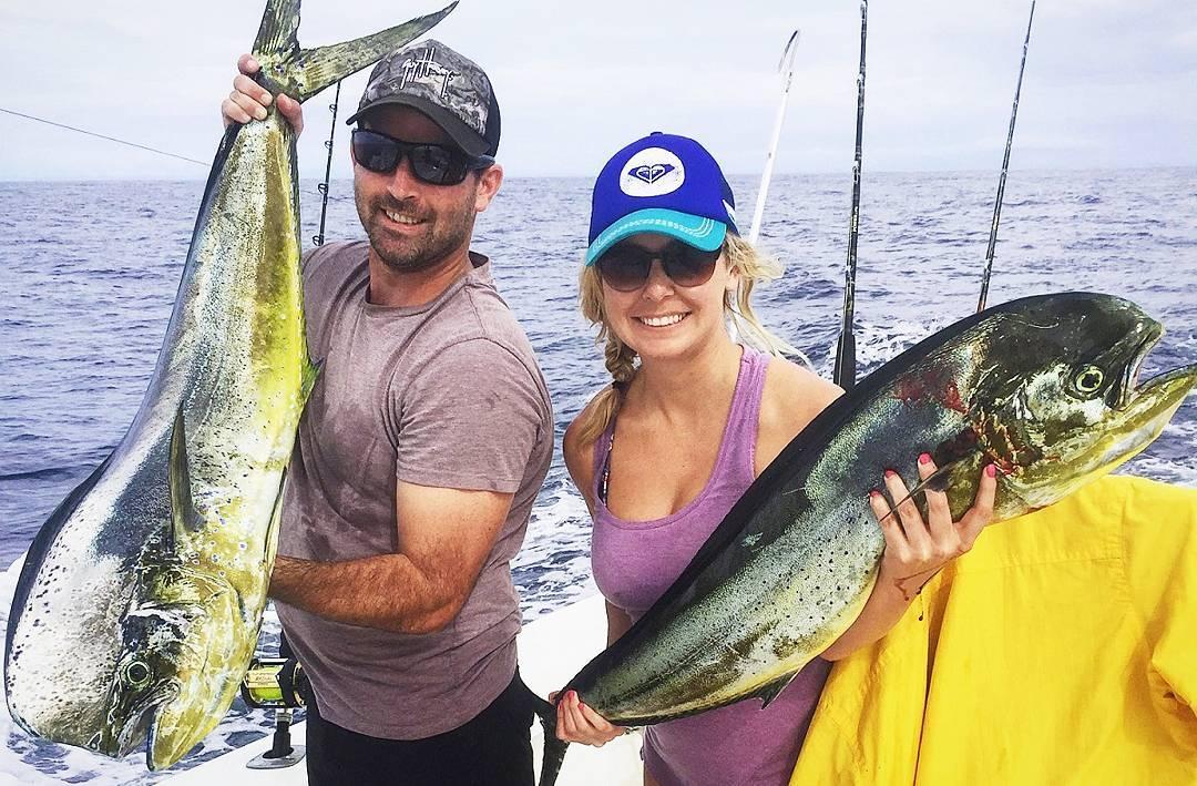 Quepos Fishing pair of Dorado