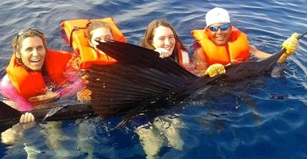 Quepos sailfish fishing April