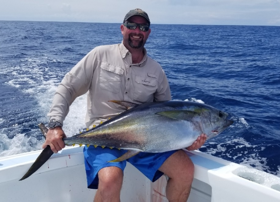 Quepos offshore fishing Yellowfin Tuna