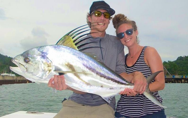 Blue jack caught in Quepos Costa Rica with Quepos Fish Adventure