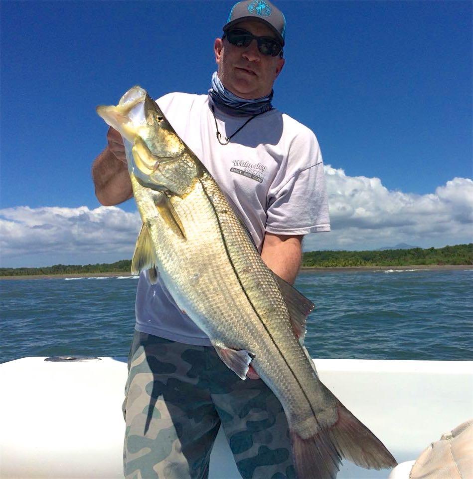 Quepos Inshore Fishing Charter Snook Panga