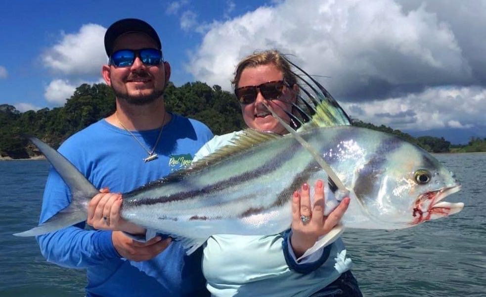 Big Roosterfish in Quepos Costa Rica Fishing