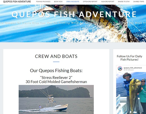 Quepos Fishing Charter For Sale